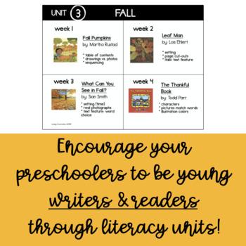 Preschool Read-Aloud Lesson Plans Unit 3 Fall