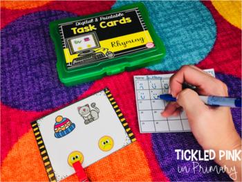 Preschool Reading Task Cards (Digital & Printable)