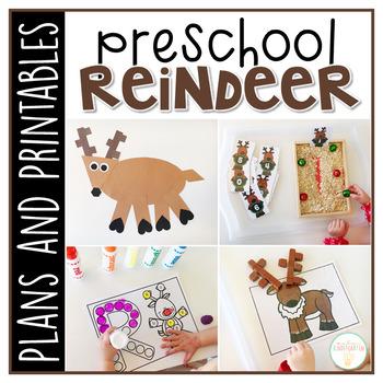 Preschool: Reindeer {Plans and Printables}