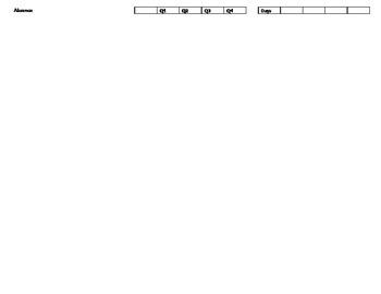 Preschool Report Card for 4yr olds