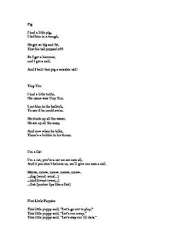 Preschool Rhymes
