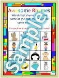 Preschool Rhyming Anchor Chart