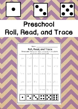 Preschool Roll, Read, and Trace