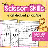 Preschool SCISSOR SKILLS Cutting Practice Handwriting Fine Motor Activities
