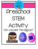 Preschool STEM Activity - Can you pick the egg up?