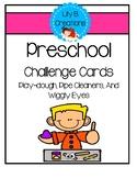 Preschool STEM Challenge Cards