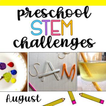 Preschool STEM Challenges: August