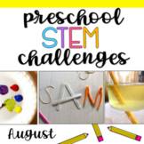 Preschool STEM Challenges: August