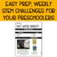 Preschool STEM Challenges: July