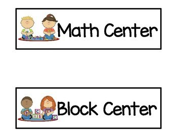Preschool Schedule Cards