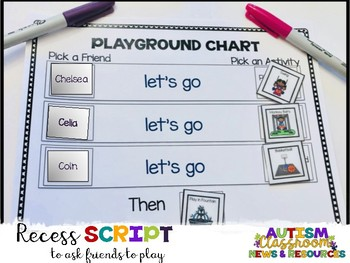 Playground Schedule and Script Freebie (Autism, Special Education)