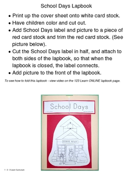Preschool School Days Lap Book
