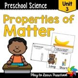 Preschool Science Centers - Properties of Matter Unit 3