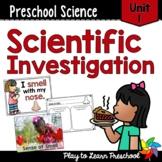Preschool Science Centers - Scientific Investigation Unit 1