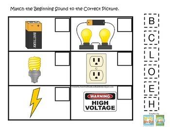 Preschool Science. Electricity Beginning Sounds children l