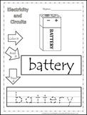 Preschool Science. Electricity Color, Read, Trace children
