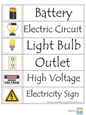 Preschool Science. Electricity Word Wall for daycare business owners.