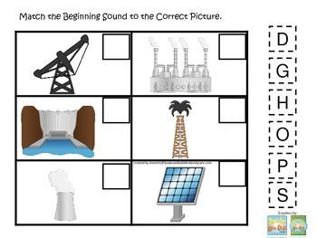 Preschool Science. Energy Beginning Sounds children learni