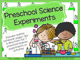 Preschool Science Experiments and Science Notebook