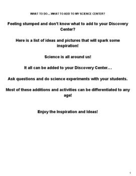 Preschool Science & Outside Activities