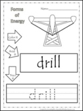 Preschool Science. Types of Energy Color, Read, Trace chil