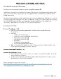 Preschool Screening- Speech and Language Screener