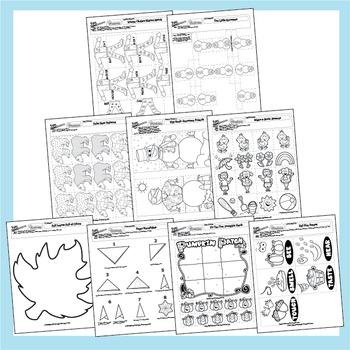 Preschool Seasons Lesson Plans and 18 Worksheets