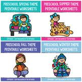 HUGE Preschool Seasons Printable Worksheets Bundle PERFECT