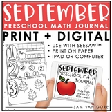 Preschool Math Journal: September - Use with Seesaw™ or Print