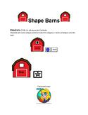 Preschool Shape Barns freebie