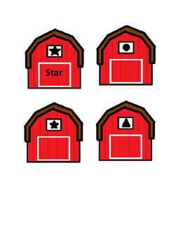 Preschool Shape Barns freebie