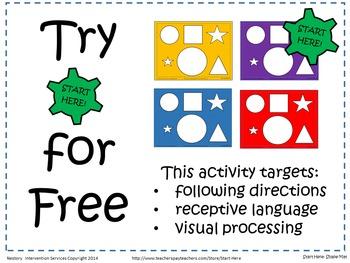 Preschool Shape Mat - Target's Language, Directions, & Visual Processing