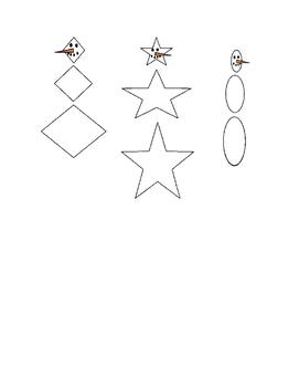 Preschool Shape Snowmen Activity