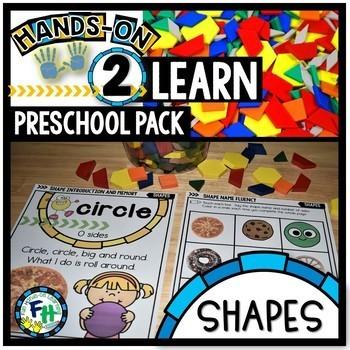 Preschool Shapes Activities & Teachers Guide Pack