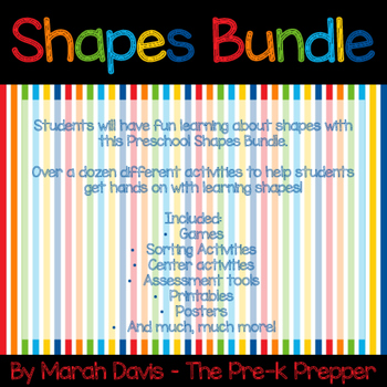 Preschool Shapes Bundle - Poems - Games - Tracing - Printables