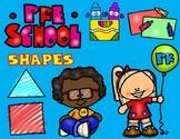 Preschool Shapes Sorting Mats:  Homeschool Shapes Sorting Mats
