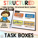 Preschool Color Activities | Sorting Task Box