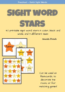 Preschool - Sight Word Stars