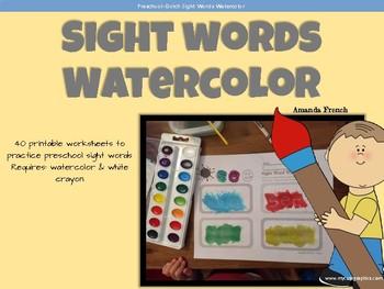 Preschool - Sight Word Watercolor