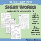 Preschool - Sight Word Worksheets