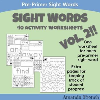 Preschool - Sight Word Worksheets (Hands-on!)