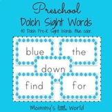 Preschool Sight Words Blue