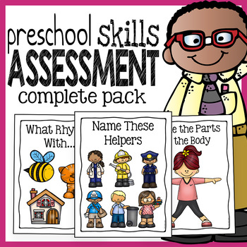 Preschool Skills Assessment - Kindergarten Readiness Test - Complete Pack
