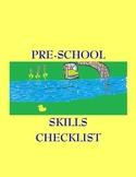 Preschool Skills Checklist