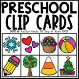 Preschool Skills Clip Cards BUNDLE