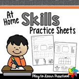 Preschool Skills Practice Sheets [At-Home]