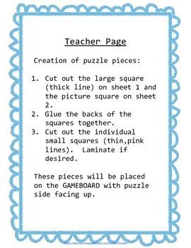 Preschool Skills Puzzle Games Vocabulary