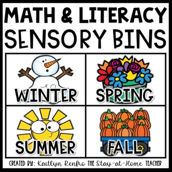 Preschool Sensory Bin Activities SEASONAL BUNDLE