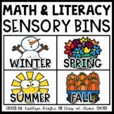 Math and Literacy Sensory Bins 4 SEASON BUNDLE