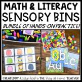 Math and Literacy Sensory Bin Activities BUNDLE